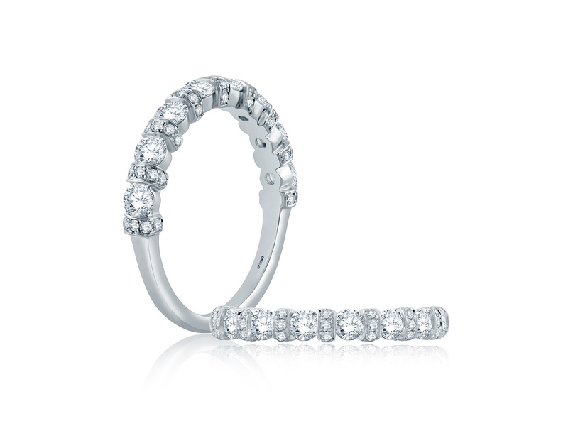 Cropped product page diamond collar half circle wedding band