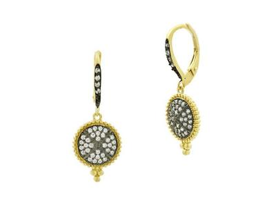 Cropped product listing signature pave disc earrings