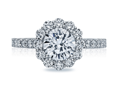 Cropped product listing full bloom engagement ring