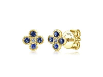 Cropped product listing diamond sapphire earrings