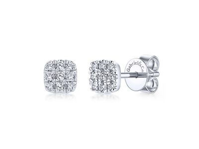 Cropped product listing pave cushion earrings