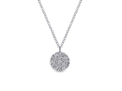 Cropped product listing pave diamond necklace