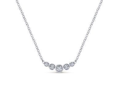 Cropped product listing diamond curved bar necklace