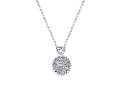 Cropped product listing diamond pave necklace