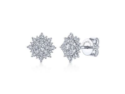 Cropped product listing diamond earrings