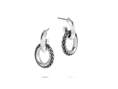 Cropped product listing classic chain door knocker earrings