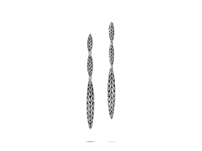 Cropped product listing classic chain spear linear earrings