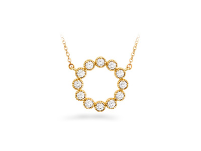 Cropped product listing liliana milgrain diamond circle pendant