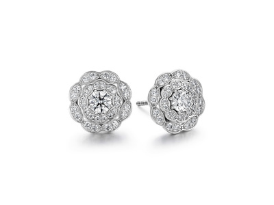 Cropped product listing lorelei double halo diamond stud earrings