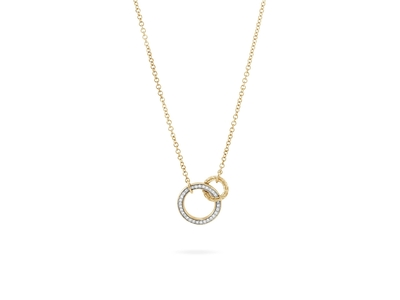 Cropped product listing classic chain interlinking necklace with diamonds