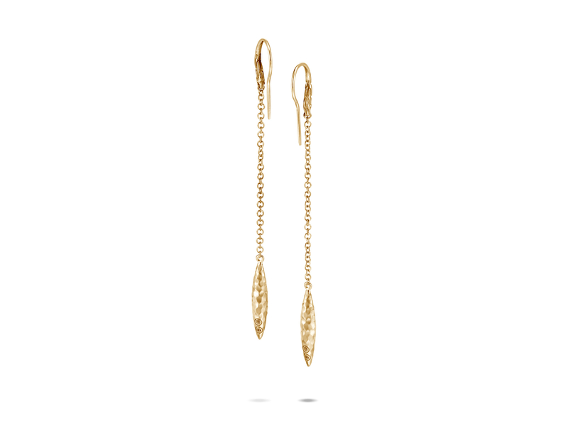 Cropped product page classic chain spear linear drop earring