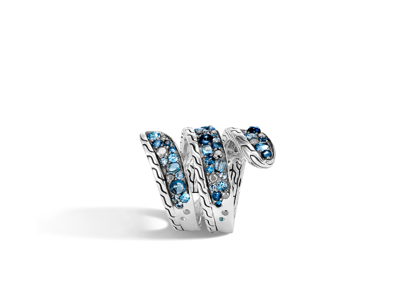 Cropped product page classic chain ring with mixed blue topaz and siliconite