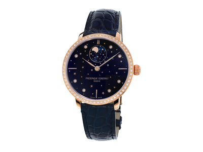 Cropped product listing slimline moonphase watch