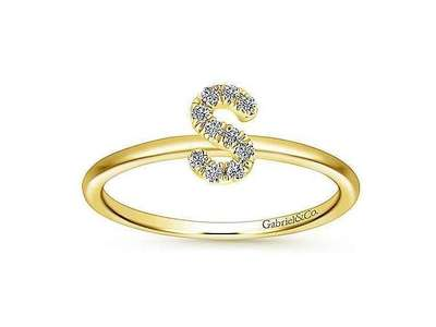 Cropped product listing diamond s initial ring