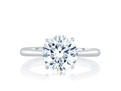Cropped product listing solitaire engagement ring with surprise diamonds