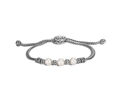 Cropped product listing classic chain pull through bracelet freshwater pearl