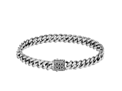 Cropped product listing men s classic chain curb link bracelet