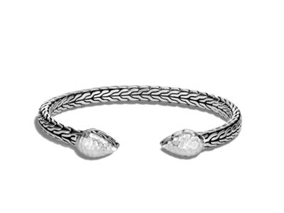Cropped product listing classic chain hammered flex cuff