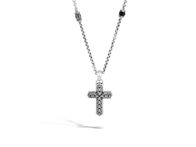 Cropped product listing men s classic chain cross necklace