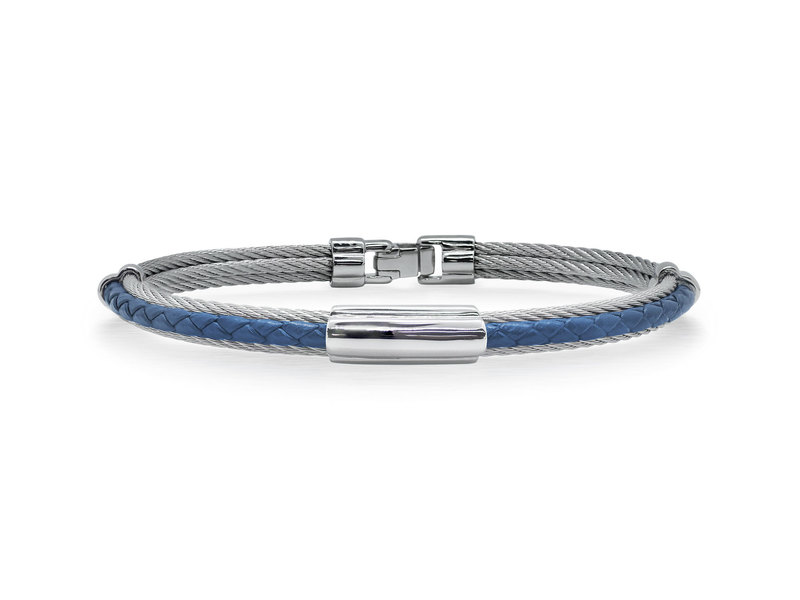 Cropped product page men s cable leather bracelet