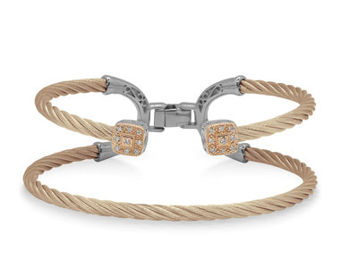 Cropped product listing carnation cable balance bracelet