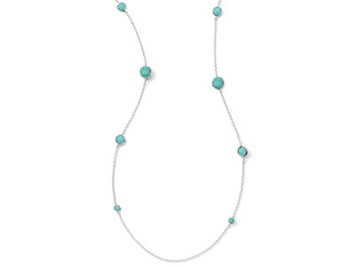 Cropped product listing rock candy graduated lollipop turquoise station necklace