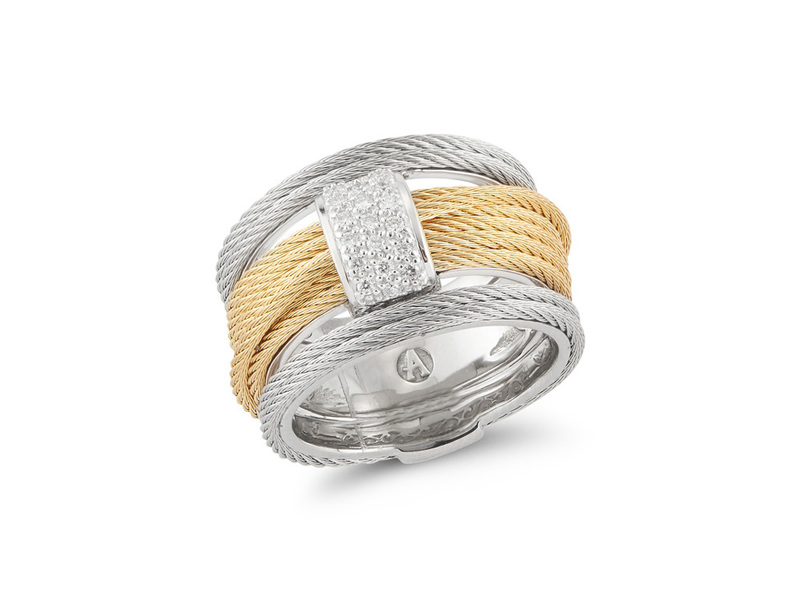 Cropped product page yellow grey cable simple stack ring