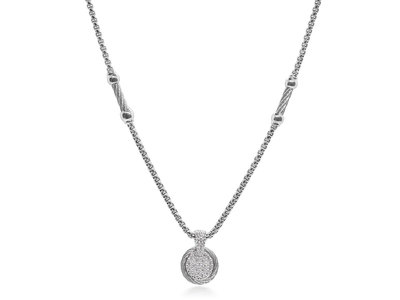 Cropped product listing scattered diamond necklace