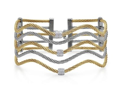 Cropped product listing yellow grey cable wave bracelet