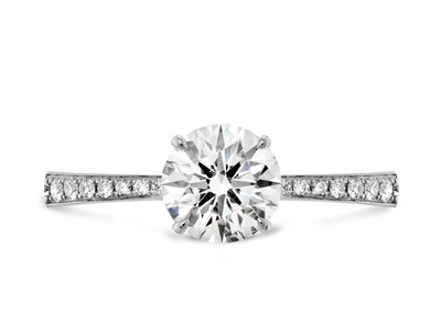 Cropped product listing signature diamond band engagement ring
