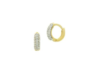Cropped product listing mini pave hoop huggies