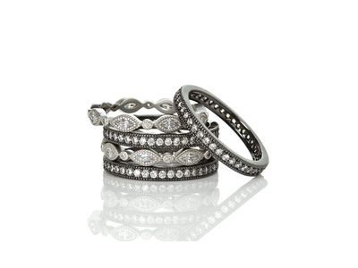 Cropped product listing signature marquise eternity 5 ring stack