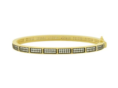 Cropped product listing pave hinge bangle