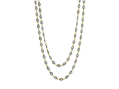 Cropped product listing embellished wrap chain necklace