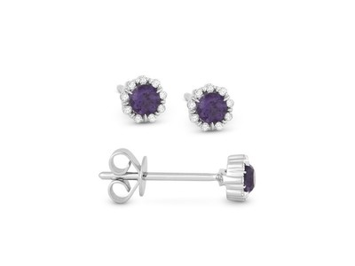 Cropped product listing alexandrite diamond stud earrings
