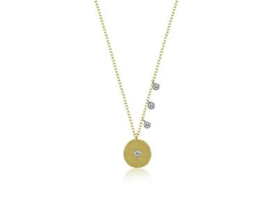 Cropped product listing diamond disk pendant