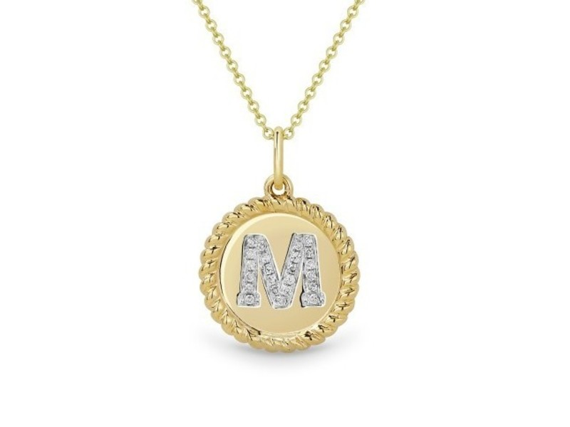 Cropped product page initial m necklace