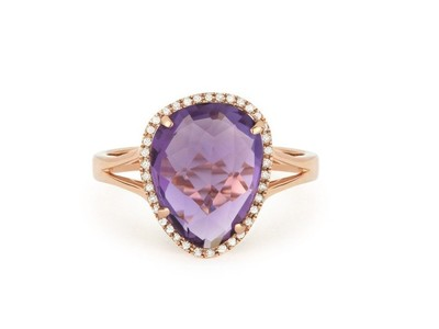 Cropped product listing amethyst diamond ring