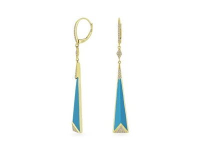 Cropped product listing turquoise stiletto earrings