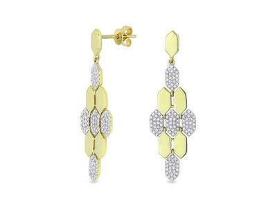 Cropped product listing honeycomb earrings