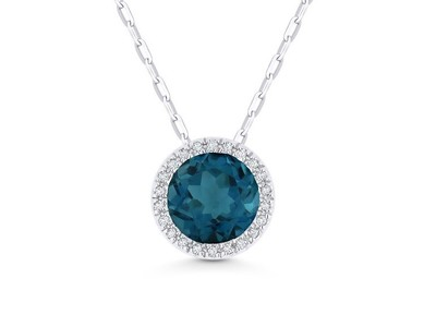 Cropped product listing london blue topaz diamond necklace