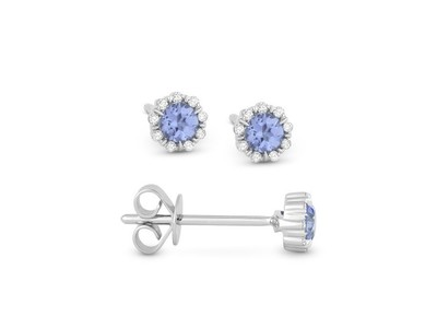 Cropped product listing london blue topaz diamond stud earrings