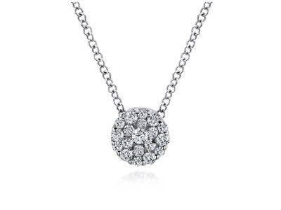 Cropped product listing diamond cluster pendant necklace