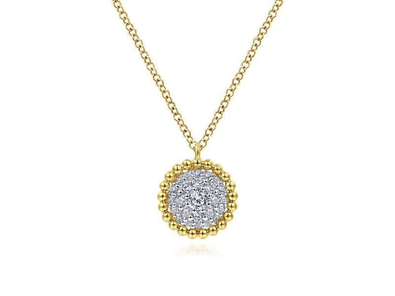 Cropped product page diamond pave pendant necklace with bujukan bead frame