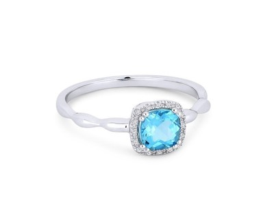 Cropped product listing blue topaz white diamond ring