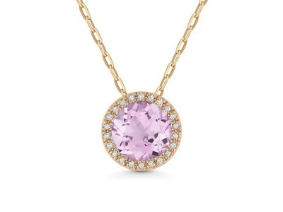 Cropped product listing pink amethyst diamond pendant