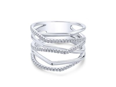 Cropped product listing multi row diamond wide band