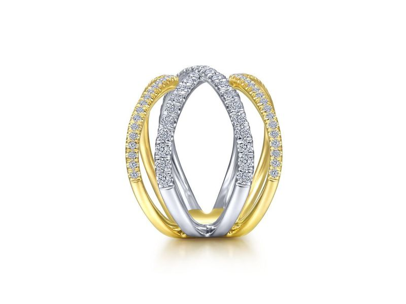 Cropped product page open diamond criss cross ring