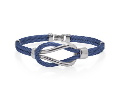 Cropped product listing men s cable square knot bracelet