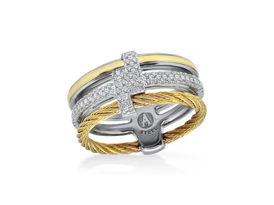 Cropped product listing yellow cable opulence ring with diamonds